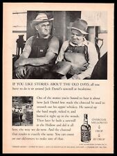 1964 JACK DANIELS Break time at the saw mill Sippin' Whiskey Whisky AD