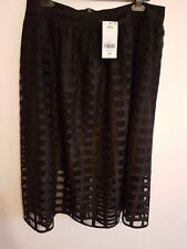 NEW RRP £48, NEXT - Ladies Womens Girls Stunning Patterned Black Skirt Size 14