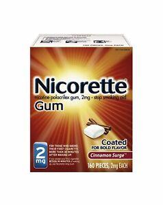 Nicorette Gum 2mg Cinnamon Surge 160 Pieces, Exp. 09/2022.