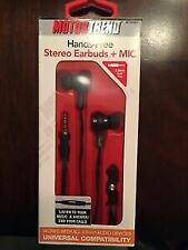 LOT OF 3 MOTOR TREND HANDS FREE STEREO EARBUDS & MIC. Lowest on eBay