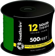 Southwire 500 Ft. 12 Gauge Green Solid THHN CU Single Conductor Electrical Wire