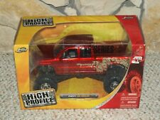 Jada High Profile Chevy Silverado 4X4 Diecast Pickup Truck 1:24 Red 53018