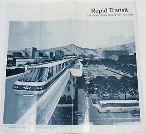 Vintage 1970's Los Angeles Area Rapid Transit Advertising Supplement