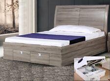 Newport Ash King single Gas Lift Bed Frame Huge Storage Area & Storage drawers