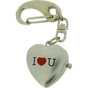 """GTP Unisex Novelty """"I Love You"""" With Cover Clock Keyring An Ideal Gift  IMP739"""