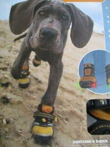 "Kurgo Step N Strobe 4 Dog Shoes - Large 3"" Wide"