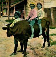 "C. 1907 BLACK AMERICANA POSTCARD ""SOUTHERN TRANSPORTATION"" #161"