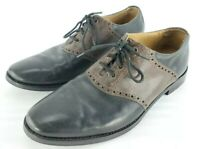 Cole Haan Grand.OS Mens Sz 9 M Oxford Leather Dress Shoes India Black Brown