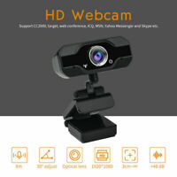 1080P HD USB Webcam Camera Laptop Autofocus Video With Microphone Calling A+