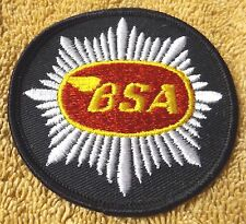 """VINTAGE PATCHES--""""BSA"""" MOTORCYCLE PATCH--3"""" PATCH--NEW--FREE SHIPPING"""