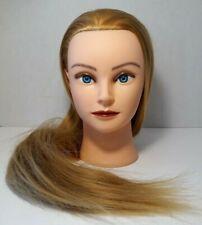 Hairdresser Training Practice Head Mannequin Blond Hair Cosmetology