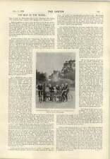 1899 Cyclists Aldbury Village Stocks Sir William White Duke Of Newcastle Caravan