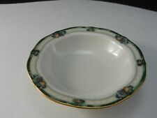 "Noritake China Berringer Fruit Dessert Bowl Fruits Gold Trim 5 3/4"" D c1992-97"
