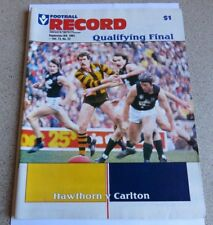 1984 VFL Qualifying Final Record - Hawthorn v Carlton