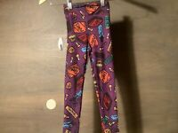 LULAROE GIRLS LEGGINGS SIZE S/M NEW NWT PURPLE HALLOWEEN CANDY SUPER SOFT