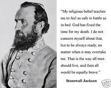 Stonewall Jackson U.S. Civil War General Christian Quote 8 x 10 Photo Picture