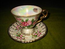 LIPPER AND MANN CREATIONS~FROM JAPAN~TEA CUP AND SAUCER~FLORAL PRINT~BEAUTIFUL~