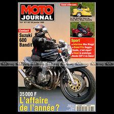 MOTO JOURNAL N°1167 SUZUKI GSF 600 N BANDIT SIDE-BIKE COMETE YAMAHA GTS 1000 '95