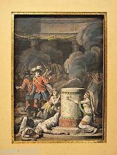 GRAVURE XVIIIè mythologie sacrifice dessin LE BARBIER grav. Halbou