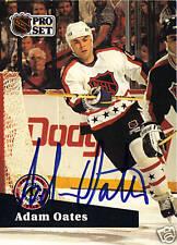 Adam Oates signed hockey card Blues Red Wings NHL HOF
