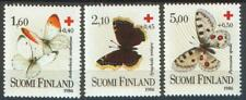 Nymphalis Apollo Butterfly Set R Cross Finland MNH Mint Stamps 1986