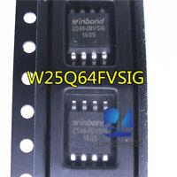5PCS  W25Q64FVSIG W25Q64FVSSIG 25Q64FVSIG 25Q64FVSSIG SOP8 200mil IC new