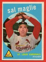 1959 Topps #309 Sal Maglie EX-EX+ WRINKLE St. Louis Cardinals FREE SHIPPING