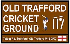 CRICKET - TOURIST SIGNS (OLD TRAFFORD) - SOUVENIR NOVELTY FRIDGE MAGNET - GIFT