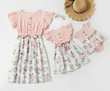 Matching Outfit Mother Daughter Dresses Floral Baby Girl Romper Clothes Family