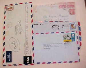 KUWAIT  COVERS 1959 also 3 COVERS OF 1970's ALL TO USA