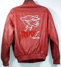 "VTG Platinum FUBU "" RUDY "" Genuine Leather Men's Zip Jacket LARGE Junkyard Gang"