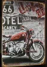 MOTER BIKE Tin Metal Sign Rustic Look .. MAN CAVE . brand new. AU SELLER