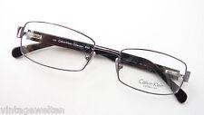 Calvin Klein Metallgestell Markenbrille Kunststoffbügel gerade Form neu size M.