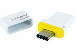Integral 128GB USB 3.0 USB-c Memory Flash Drive Memory Stick Fusion Dual Type-C