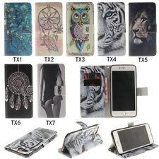 Flip PU Leather Card Lot Pocket Kickstand Case Cover Protection Silicone Bumper