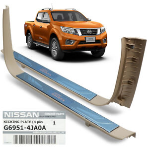 For Nissan Np300 D23 2014 15 18 Genuine Stainless Steel Cover 4 Door Chrome
