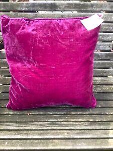 One Tracy Porter Poetic Wanderlust Pillow Solid FUCHSIA NWT  Velvet Bohemian