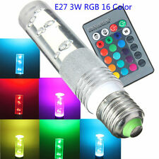 E27 3W RGB 16 Color changeable LED Light Bulb Lamp with IR Remote Control