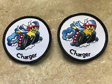DODGE CHARGER 1966 - 1976 2008 - 2018 SCAT PACK BEE ON WHEELS LOGO PATCHES 2X