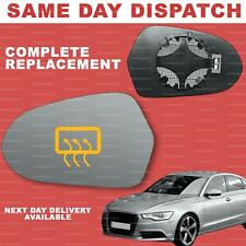 Audi A6 C7 2011-2018 wing mirror glass for Left passenger side Heated