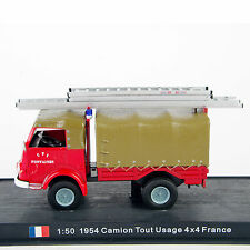 1/50 Fire Truck 1954 Camion Tout Usage 4x4 France Diecast Fire Truck Model