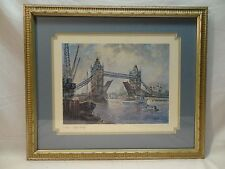 LONDON TOWER BRIDGE-LITHO BY H MOSS-GREAT SHOT