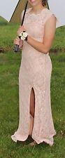 CITY TRIANGLES Full-Length Prom / Formal Dress Sz 3 Lt. Peach, Left Leg Slit