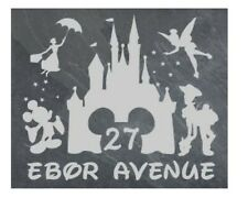 Personalised Disney scene door plaque, sign, welsh slate, engraved,