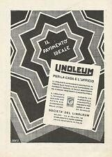 W0244 LINOLEUM - Il pavimento ideale - Pubblicità 1930 - Advertising