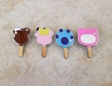 Pin Trading Disney Pins Lot of 4 Set Mickey Mouse Shaped Ice Cream Bar Stitch