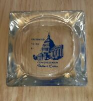 Vintage PRESENTED BY OHIO CONGRESSMAN DELBERT LATTA Glass Washington DC ASHTRAY