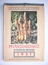 Alter Kalender Pflanzenschutz im Wechsel der Jahreszeiten 1951 Garten Gärtner