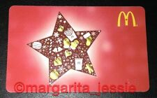 """McDonald's 2015 ARCH GIFT CARD """"STAR"""" RED NO VALUE CANADA XMAS Gingerbread NEW"""