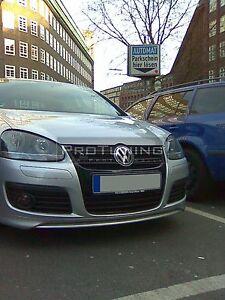 VW Golf V mk5 Front Bumper spoiler GTI style addon under bumper splitter lip GT